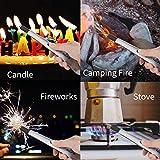 Ethinc 3627 Elektrisches Lichtbogen-Kerze, flammenlos, Winddicht, USB wiederaufladbar, für Camping, Grillen, Grillen, Herd, Feuerwerk, kein Funken und Geruch (Silber), - 6