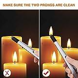 Ethinc 3627 Elektrisches Lichtbogen-Kerze, flammenlos, Winddicht, USB wiederaufladbar, für Camping, Grillen, Grillen, Herd, Feuerwerk, kein Funken und Geruch (Silber), - 7