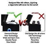 SPPARX USB Feuerzeug, Lichtbogen Feuerzeug, Technologie - Elektronisches Feuerzeug Generation, Plasma Feuerzeug, elektronisches Feuerzeug, Doppelbogenstrahl, USB wiederaufladbar - 4