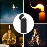 USB Feuerzeug, Coquimbo Elektrisches Feuerzeug, Lichtbogen Feuerzeug, Wiederaufladbare Windproof, Dual Arc Feuerzeug für Küche, Kerzen, Zigaretten, Grill und Camping - 2