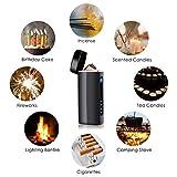 Lichtbogen Feuerzeug, NASUM, USB-Elektro Feuerzeug – Aufladbar - 2